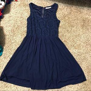 💜5/$15💜 Rewind Navy Blue Lace Dress